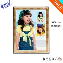 wholesale mini a4 baby and childen wooden photo frame