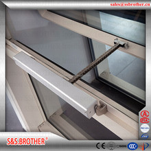 Electric window opener window opening mechanism smoke and heat exhaust