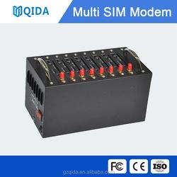 8 port multi sim bulk sms gsm modem pool m2m gsm cheap modem for STK recharge