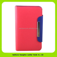 12032 Wallet card-slot pu leather cell mobile phone case