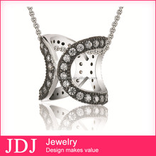 Wholesale Fashion Hearts and Arrows Pure Silver Chain Sterling Sterling Necklace