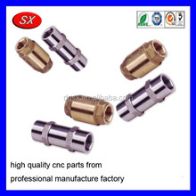 customized cnc turning machining control spring loaded valve part brass copper fitting bushing