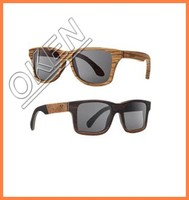 Custom promotional wayfarer wooden sunglasses made from various type of woods