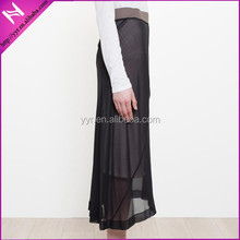 lady's fashion full ling chiffon maxi skirt