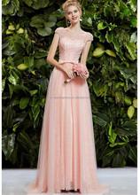 Fashion Cap Sleeve Beaded Sash Backless ebay evening dresses FXL-117
