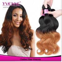 Wholesale distributors brazilian hair extension ombre human hair