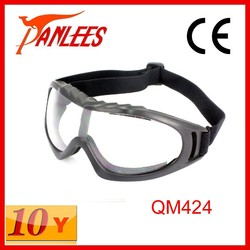 Panlees 2015 Clear lens blue TPU frame anti UV outdoor sports protective motocycle eyewear