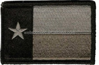 tactical texas flag velcro back embroidered patches,morale patch