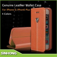 2015 New Design For iPhone 6 Mobile Accessories Leather Wallet Cell Phone Case