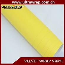 Ultrawrap 1.50x15 meter bubble free yellow velvet wrap vinyl decals for car