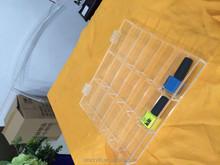 clear acrylic nail polish organizer box with hinged lids