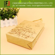 Custom Made 2015 Hot Selling Printed Paper Shopping Bags