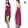 2015 fashion dress,with a flowy luxe crepe skirt and a come-correct hi-lo hem is enhanced by cut-outs at the sides.