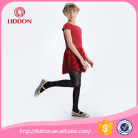 High quality girls black silk stockings with striped pattern wholesale kids nylon stockings tube