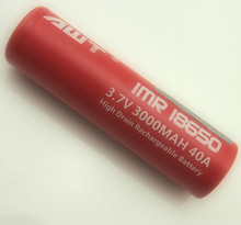 High drain 18650 awt red flat top battery for wholesale best quality rechargeable battery for e-cig battery aa