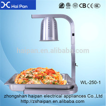Electric Stainless Steel 3 Infrared Bulb Hot Restaurant 250w food warmer lamp
