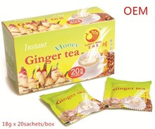 Super instant ginger tea, all flavors & packing