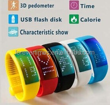 2015 High quality promotion smart LED silicone watch