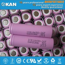 samsung li ion 18650 battery 3.7v 2600mAh 26F high quality rechargeabe lipo battery