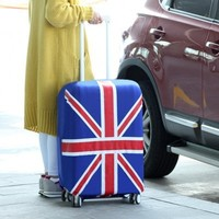 Candy color elastic travel national flag luggage bag cover (L 28'')