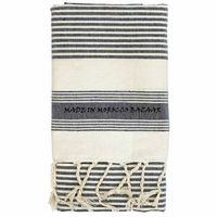 Gorgeous Moroccan Hand Woven Striped Cotton Beach Towels