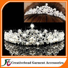 Dreamlike strass artesanal coroa Tiara de noiva