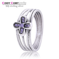 Antique 925 Sterling Silver Purple CZ Rings Wholesale Supplier and Manufacturer Silver Gemstone Ring Bezel Jewelry