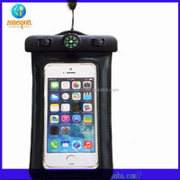 New Design Mobile Phone Waterproof Pouch with compass