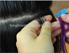 "Hair Extensions Sticker Skin Weft 22"" 100g/pack PU Tape Glue Skin Weft 100% Remy Human Hair Tape Hair Extension"