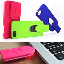 Case With Wireless Selfie Bluetooth Remote Shutter USB Rechargeable For iPhone 5