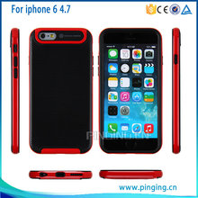 Dual Layer hybrid hard back rugged defender bumper case for iphone 6 /iphone 6s protective case