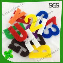 customize velcro sticky patch/ alphabet/number letters patch