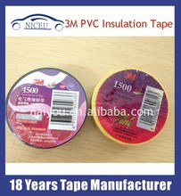 Excellent quality Insulation Adhesive PVC Tape/Insulation Black Adhesive 3M Black Tape