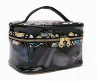 Personalized Clear Vinyl Zippered Travel Make up Cosmetic Bag