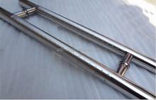 Stainless steel sliding glass shower door handles, H type fancy handles