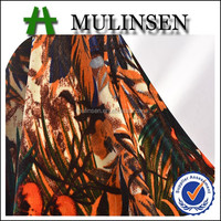 Mulinsen Hot sale polyester printed warming velvet drapery fabric