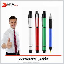 advertising multicolor logo print Highlighte pen with ball-point pen