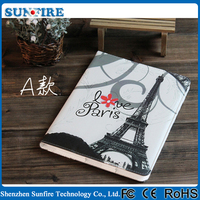 Best Selling Hot Chinese Products Fashion Eiffel Tower Leather Case For Ipad 2 Case , For Ipad 3 Case , For Ipad 4 Case