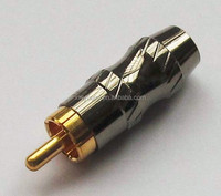 High quality metal RCA male connector