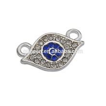 turquía encantos mal de ojo venta personalizada del esmalte del metal de mal de ojo encanto con diamantes de imitación