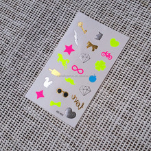 Inspired by daily life small jewelry neon temporary tattoo