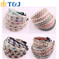 >>>2015 new! fashion Korean style hair band women hair accessories multicolor lace wide headband /