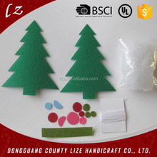 2015 hot sales new product home crafts holiday christmas hanging decorations handmade tree felt ornament kits