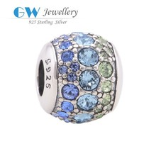 2015 new style fashion jewelry,925 sterling silver hand stamped initial charms,cz pave beads