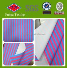Brushed Microfiber Peach skin fabric with stripe printed