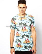 T-shirt with desert island devil all-over print for men