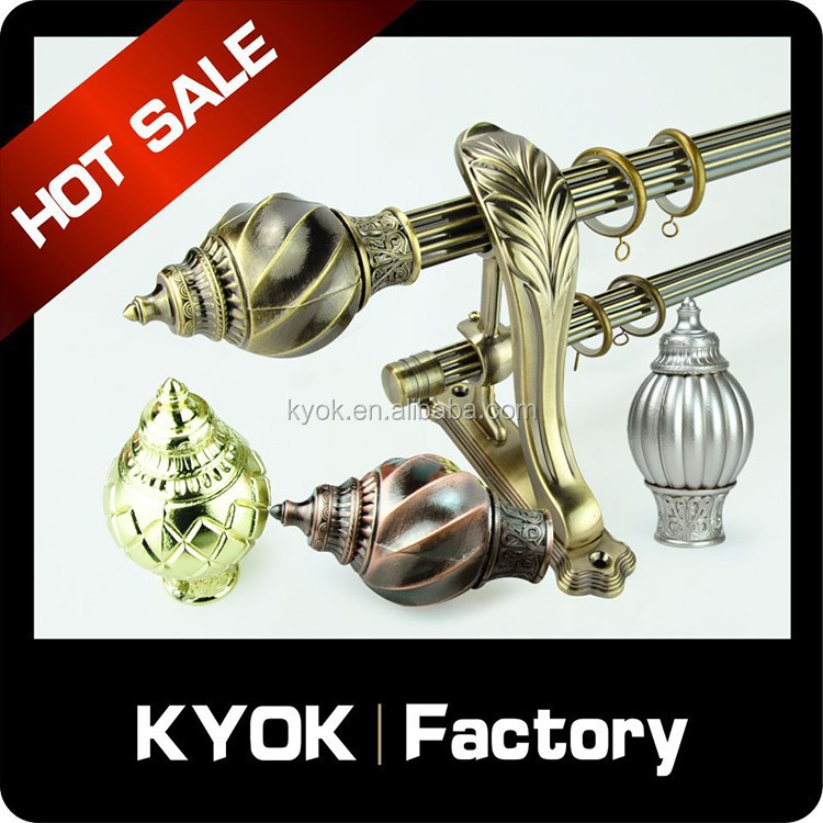 Kyok Home Decor Curtain Rod Set Wrought Iron Curtain Rod Delicate Curtain Finals Factory In