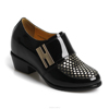 Women Patent Leather Sexy Ankle Boots Velcro Strap lady Height Increasing Shoes