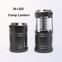 (160282) Hot sale 30 LED square camping hanging plastic outdoor lanterns lights