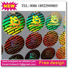 Laser adhesive custom 3D hologram sticker
